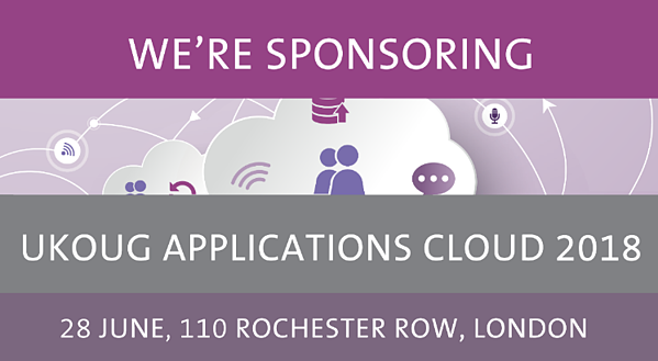 We are sponsoring UKOUG Applications Cloud 2018