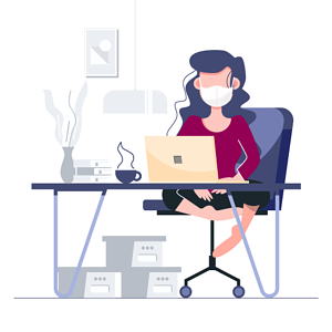 Remote working during crisis